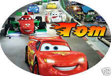 PLAQUE DE PORTE OVALE RIGIDE  réf 68 CARS personnalisée prénom