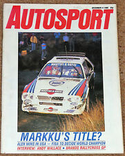 Autosport 11/12/86* BRITISH RALLYCROSS GP - CLUBMANS REVIEW - BARBER SAAB PRO