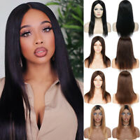 Us Cheap Pure Human Hair Wigs 100% Brazilian Real None Lace Full Wig Straight C2