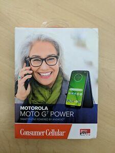 Consumer Cellular Postpaid Motorola Moto G⁷ Power (3 + 32GB) - Marine Blue