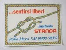 Old sticker radio/Old Sticker Autocollant _ Radio mass (13x10 cm) Standa