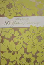 50th years of Love Marriage Gold Anniversary Greeting Glitter Card Beautiful