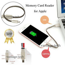 USB Data Cable i-Flash Drive Lightning Memory TF Micro SD Card Reader for iPhone