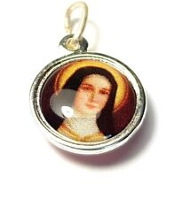 Saint Therese of Child Jesus relic medal patron HIV/AIDS sufferers; florists