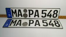 German License Plate SET Euro Front & Back 100% Authentic - Audi VW BMW Porsche