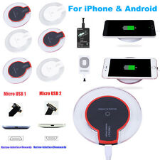 Qi Wireless Charger Dock Charging Pad Receiver Kit Adapter For iPhone Android