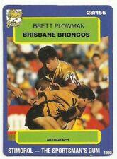Brisbane Broncos 1990 Season NRL & Rugby League Trading Cards