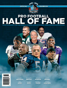 2018-19 PRO FOOTBALL HALL OF FAME YEARBOOK -  Ray Lewis, Moss, Urchacher, & More