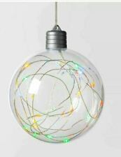 Led Clear Sphere 30 Dew Drop String Lights Multicolor Twinkle Silver Wire 2 Pack