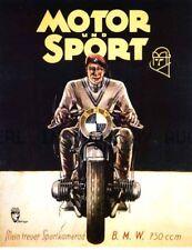 BMW 750cc motorcycle racing ca 8 x 10 print prent poster