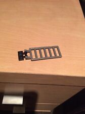Vintage Lego Dark Grey 3x7 Ladder With Double Clips & Black Hinge Plate 6020