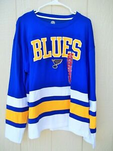St Louis Blues Men's Long Sleeve Shirt Jersey SZ XL 46/48 NICE Official NHL Sewn