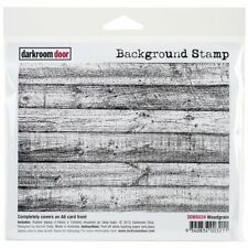 SALE NEW Darkroom Door Rubber Stamp Background Woodgrain