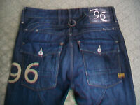MENS G STAR 96 ELWOOD HERITAGE TAPERED JEANS SIZE 31