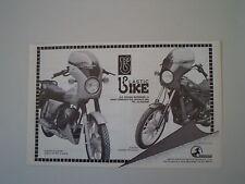 advertising Pubblicità 1984 PLASTIC BIKE e CAGIVA SST 125/LAVERDA 125 CUSTOM