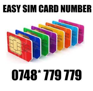 GOLD EASY VIP MEMORABLE MOBILE PHONE NUMBER DIAMOND PLATINUM SIMCARD 779 779