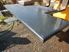 Honed SLATE Hearth cut to size and shape you require, bullnose, SAMPLE