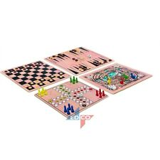 5in1 LUDO DRAUGHT CHECKER BACKGAMMON TICTACTOE GOOSE TRAVEL GAMES COLLECTION BOX