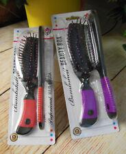 "PROFESSIONAL HAIR BRUSH w COMB SET by Beauty Box >8-8.5"" ea >Color Choice > NIP!"