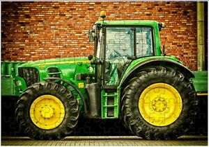 John Deere Tractor A4 JIGSAW Puzzle Birthday Christmas Gift Can Be Personalised)