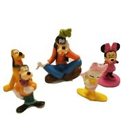 """Lot of 5 2"""" and 3"""" Disney Mickey Mouse PVC Character Figurines Good Condition"""
