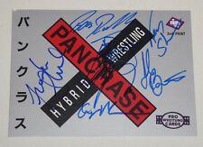 Ken & Frank Shamrock Bas Rutten Minoru Suzuki +2 Signed Pancrase 1997 BBM Card 1