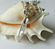 """Solid sterling silver surf board pendant  the 18"""" chain is UK Hallmarked"""