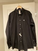 Cinch Western Shirt Mens Garner L/S Solid Pinpoint Black MT10320083 Size L NWT
