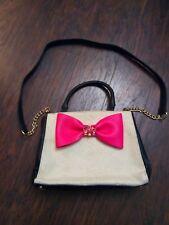 Betsey johnson pink bow purse