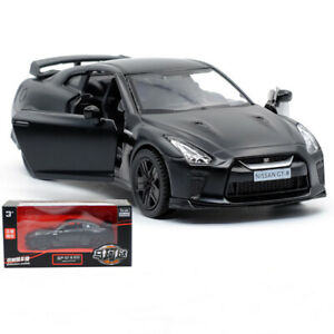 1:36 Nissan GTR R35 Diecast Model Car Collection Metal Alloy Pull Back Kid Toy