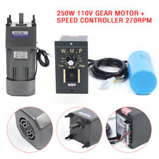Gear Motor Electric Variable Speed Controller 1:5 270RPM Industrial Automation