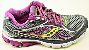 Saucony Women's Omni Gray / Purple / Citron Yellow Running Shoes Size 5 WIDE