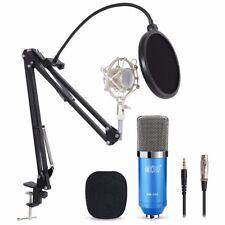 TONOR Professional Condenser Microphone Studio Recording Mic W/ Stand Blue
