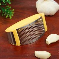 Stainless Steel Garlic Press Crusher Squeezer Kitchen S3T3 Yellow Tool Fast N2M1