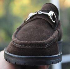 6f8c5e6eeeb Men s GUCCI Mocha Brown suede Horse-bit Loafers shoe Brand sz Gucci ...