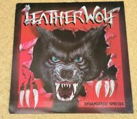 LEATHERWOLF Endangered Species 1985 UK vinyl LP  EXCELLENT CONDITION