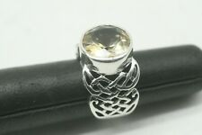 Silpada Sterling Silver & Citrine Ring Size 6 1/4