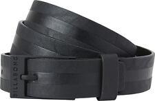BILLABONG Homme Ceinture. Nouveau BOWER en cuir synthétique noir réglable Jeans Bracelet 7 W 01 19