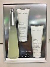 L'eau D'issey Issey Miyake Women Perfume EDT Spray 3.3 oz NIB 3 Pcs GIFT SET