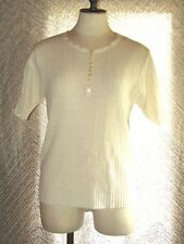 Vintage Terry Turner Fashions Womens Blouse Scalloped Neck Knit Virgin Acrylic