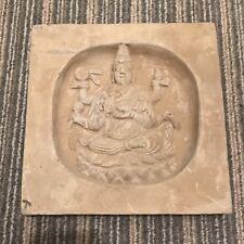 Antigua China Dinastía Song piedra tallada Azulejo Con Buda de un templo