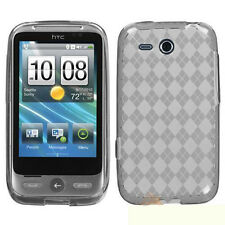 For HTC Freestyle TPU Candy Flexi Gel Crystal Skin Case Cover Clear Plaid