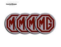 MG ZT ZS ZR LE500 Wheel Centre Badges Burgundy Silver 57mm Logo Emblem Badge