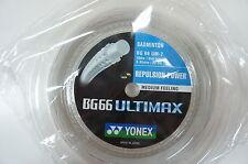 YONEX BG66 UM, BG-66UM, BG 66 Ultimax, 200 m Coil Badminton String, White