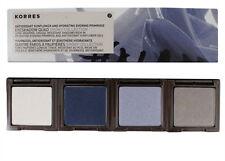 KORRES EYESHADOW QUAD SMOKY COLLECTION-METALLIC GREY+SKY BLUE+MIDNIGHT BLUE+WHIT