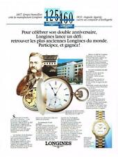 PUBLICITE ADVERTISING  1992  LONGINES  montres   ERNEST FRANCILLON