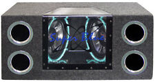 Pyramid Subwoofer Audio Dual Bandpass System Neon Lighting Speaker Box Car RMS