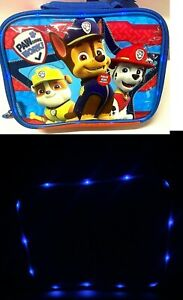 Paw Patrol Rare Light up Thermos Soft Lunch Box NOT SOLD ON AMAZON !