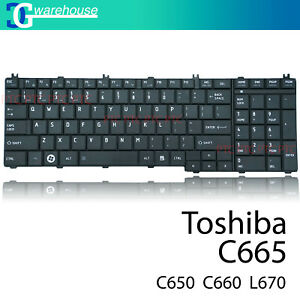 New Keyboard for Toshiba Satellite Pro C650 C655 L650 L655 L670 L675 Black US