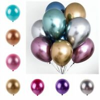 "10 pcs 12"" Chrome Metallic Shiny Latex Balloons Wedding Birthday Party Decor Hot"